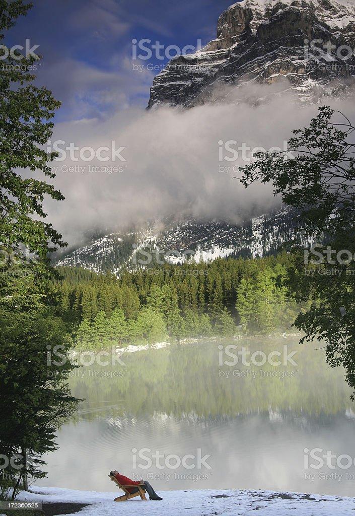 Mountain Retreat royalty-free stock photo