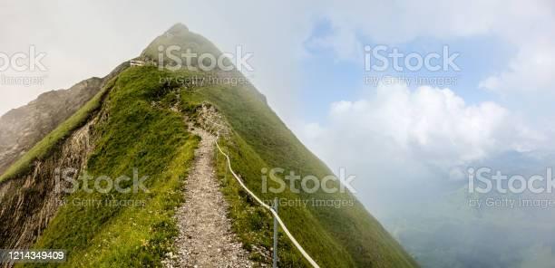 Photo of Mountain ridge between the Augstmatthorn and Harder Kulm, Interlaken, Lake Brienz, Canton of Bern, Switzerland