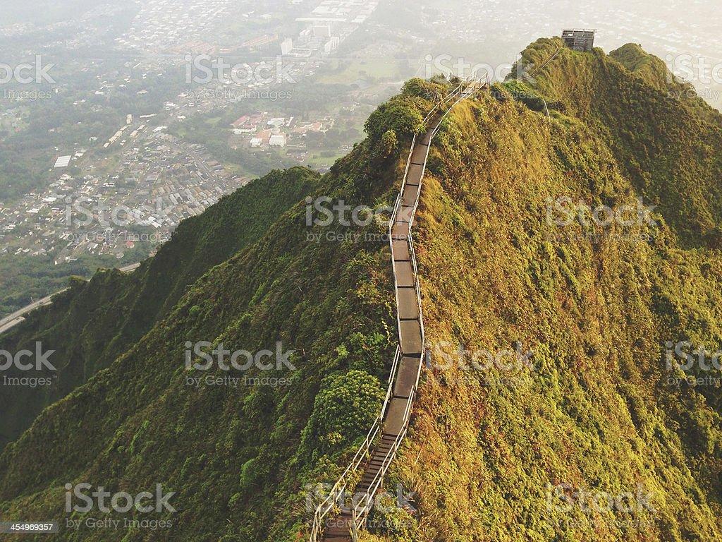 Mountain Ridge Hiking Trail Landscape View royalty-free stock photo