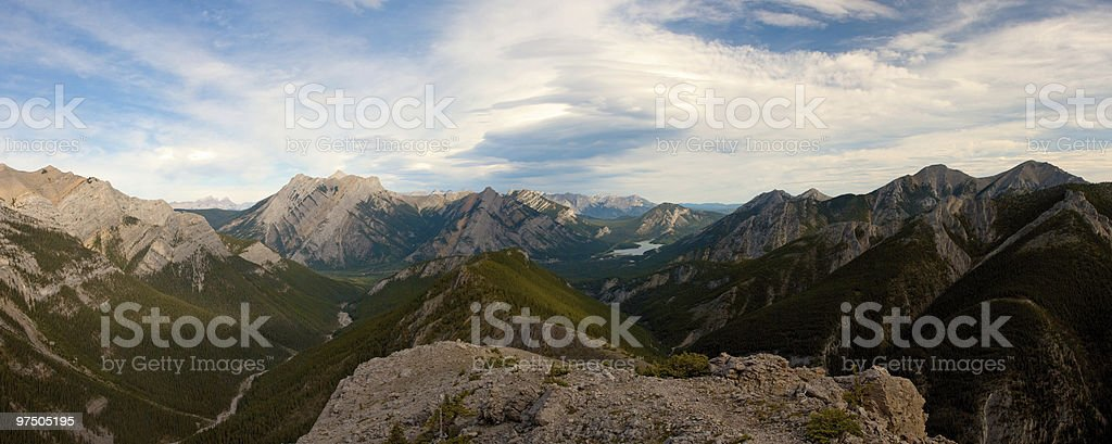 Mountain Ridge Panorama royalty-free stock photo