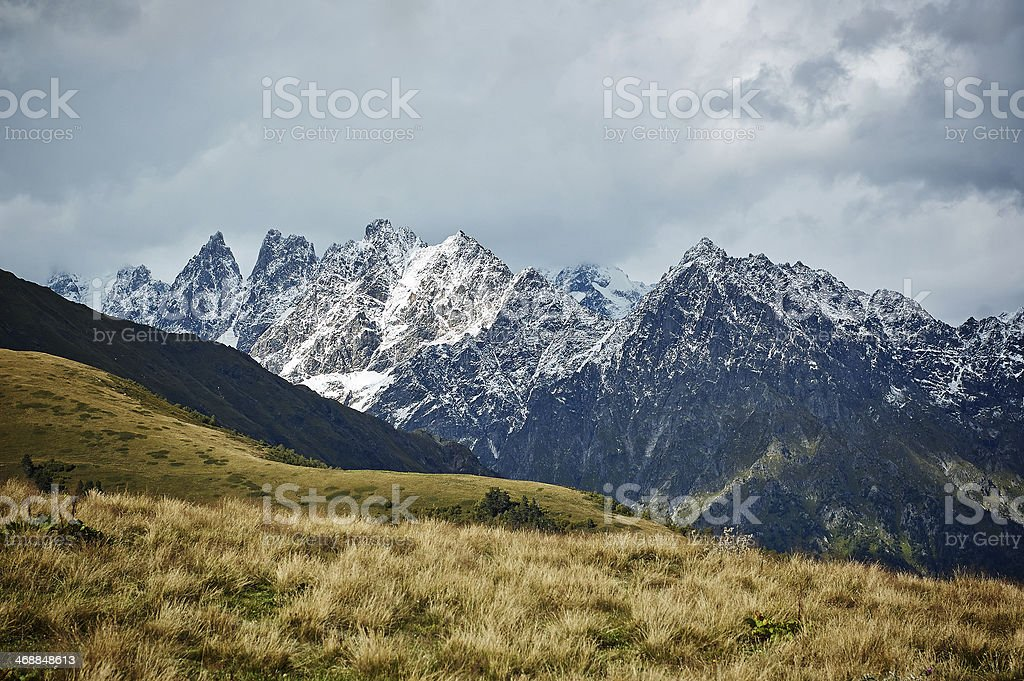 Mountain ridge stock photo