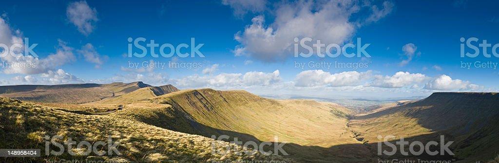 Mountain ridges big sky vista Wales royalty-free stock photo