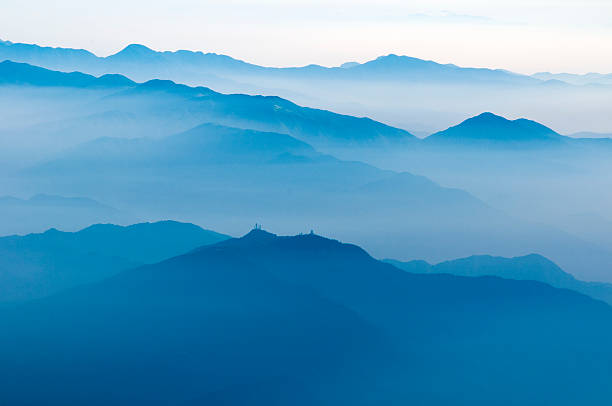 mountain ridges by morning ストックフォト