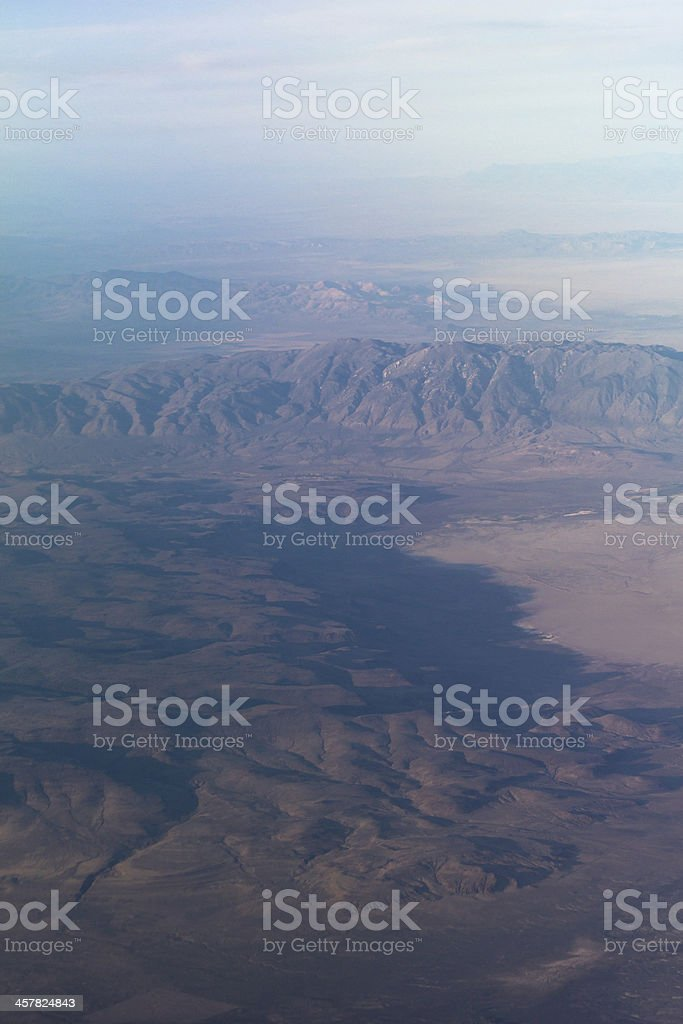 Mountain ridges shot from up high royalty-free stock photo