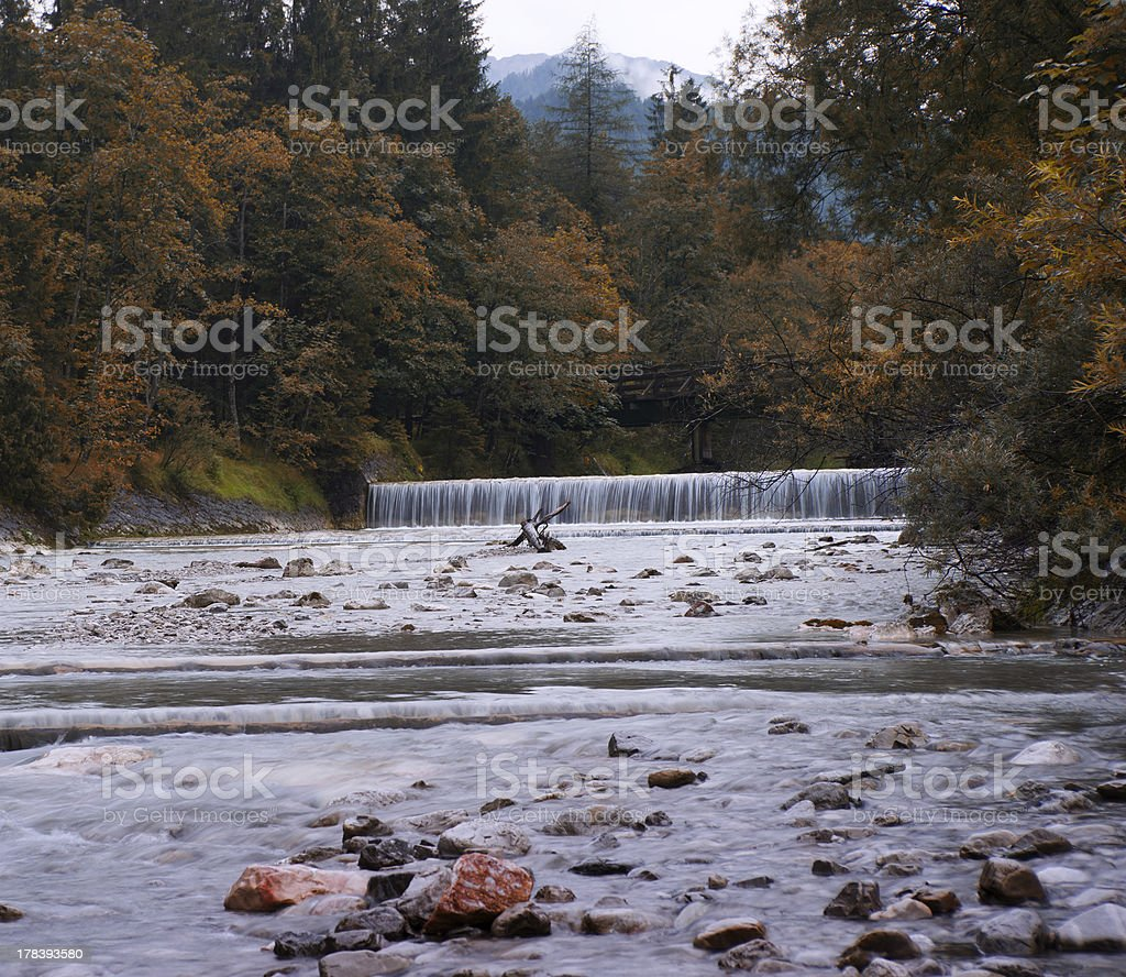 Mountain River in Indian Summer stock photo