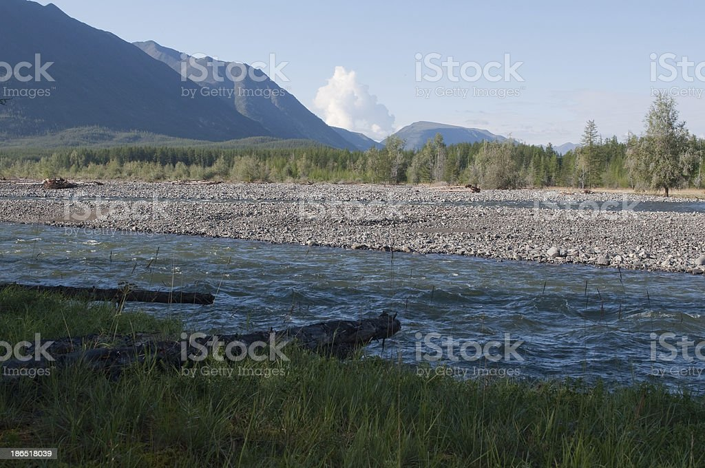 Mountain river. royalty-free stock photo