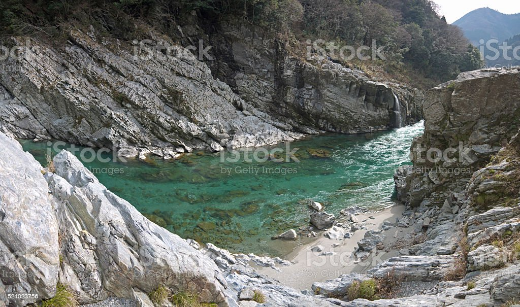 Mountain river stock photo