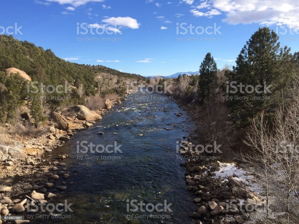 Mountain River River in Colorado Colorado Stock Photo