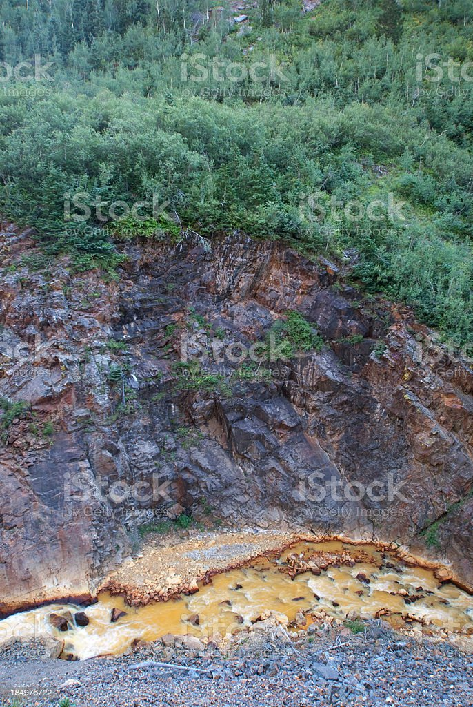 mountain river valley forest royalty-free stock photo