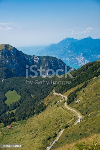 istock Mountain road and trail to Monte Altissimo 1033236360