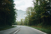 Mountain road at the mountains Bavarian Alps, Germany