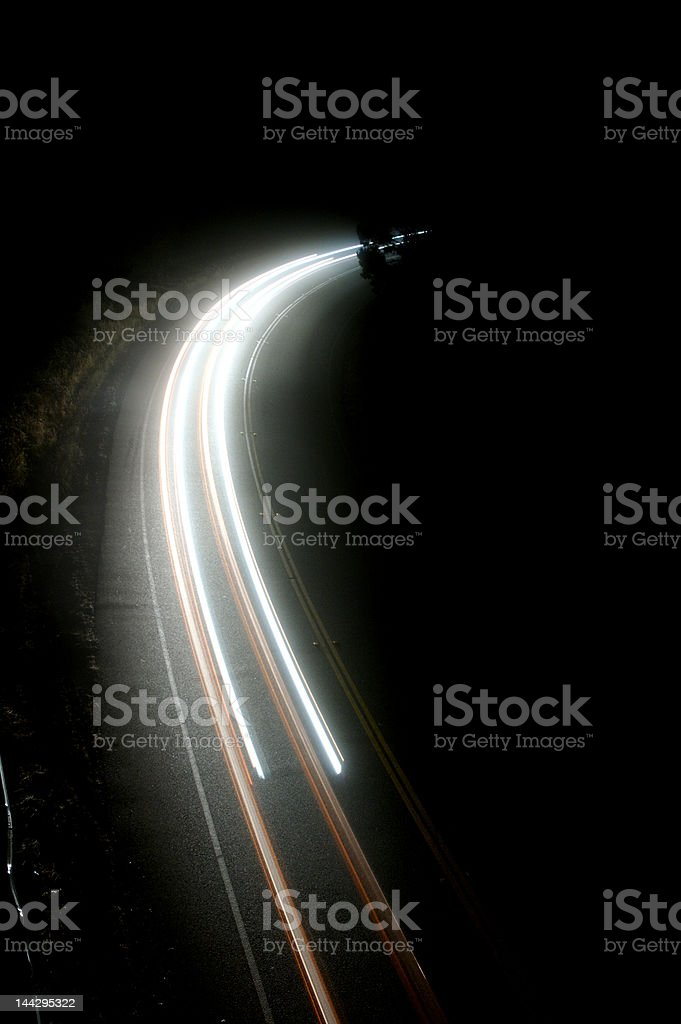Mountain road at night royalty-free stock photo