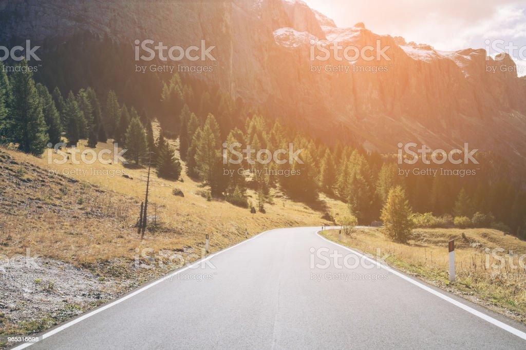 Mountain Road Highway of Dolomite Mountain - Italy zbiór zdjęć royalty-free