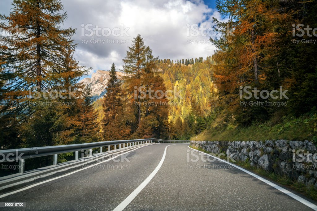 mountain road highway of dolomite mountain italy stock photo more