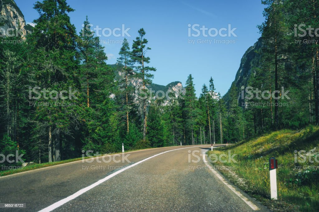 Mountain Road Highway of Dolomite Mountain - Italy zbiór zdjęć royalty-free
