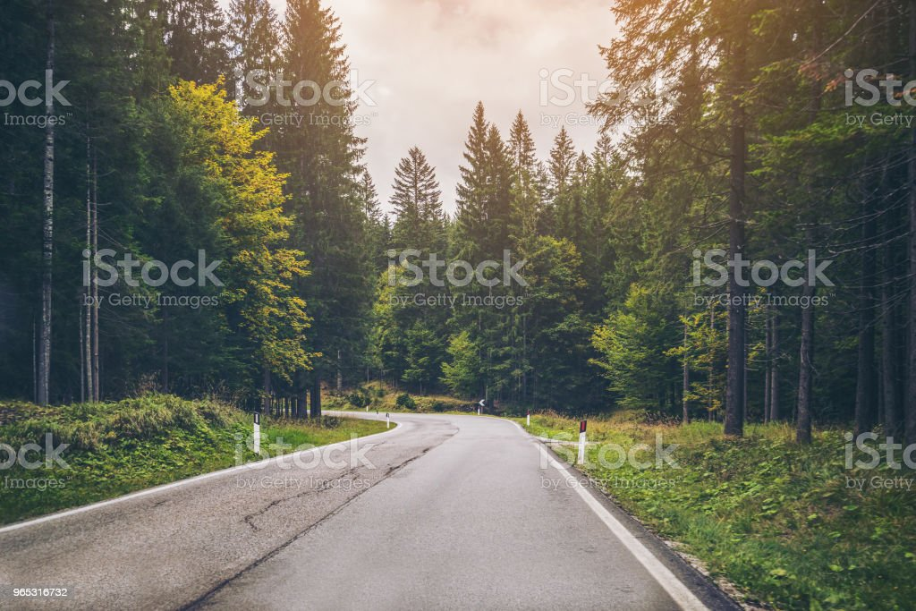 Mountain Road Highway of Dolomite Mountain - Italy royalty-free stock photo