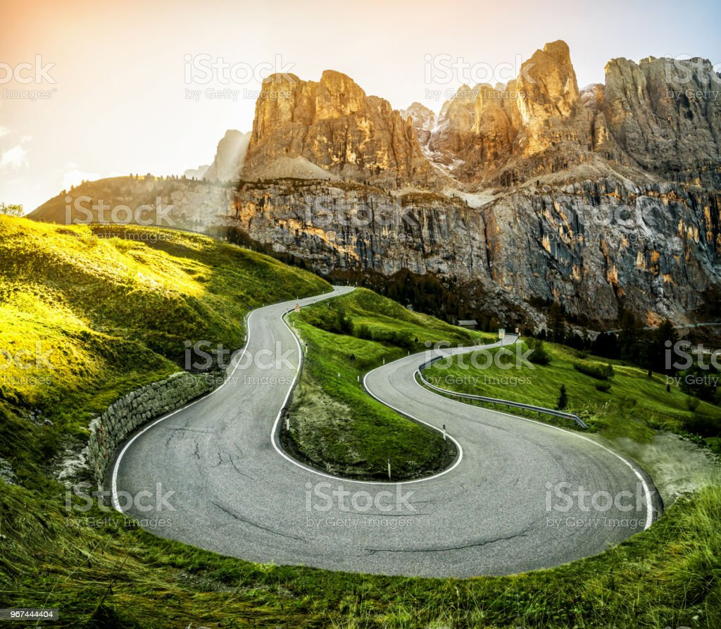 Mountain Road Highway der Dolomiten Berg - Italien – Foto