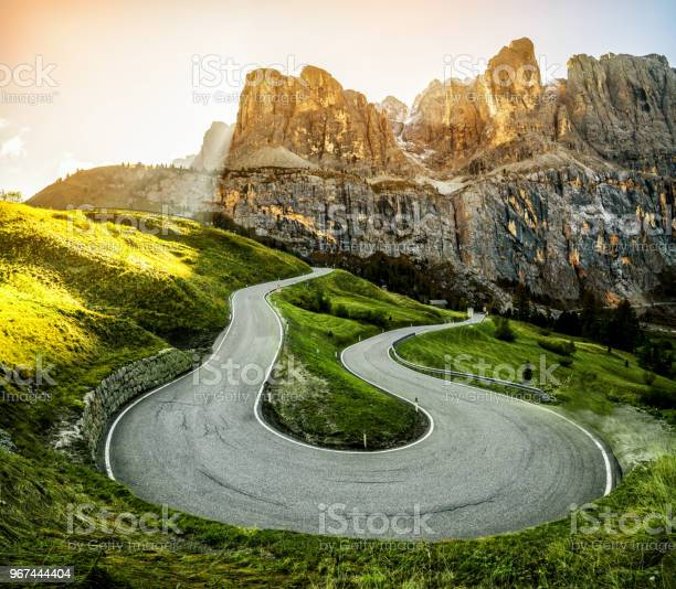 Photo of Mountain Road Highway of Dolomite Mountain - Italy