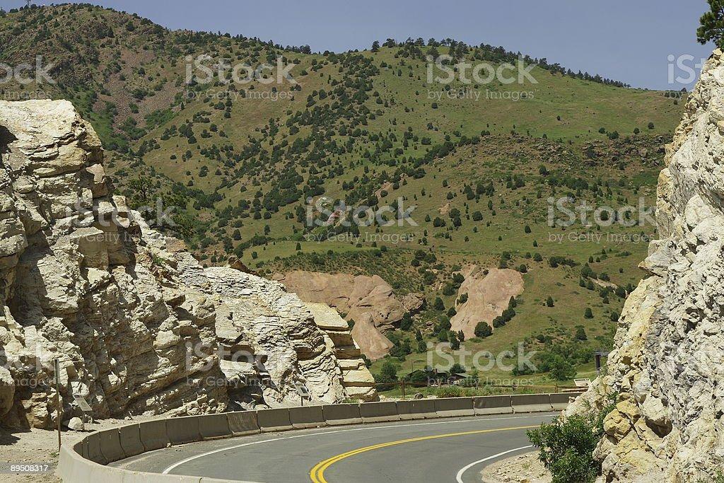 Route de montagne dans le Colorado photo libre de droits