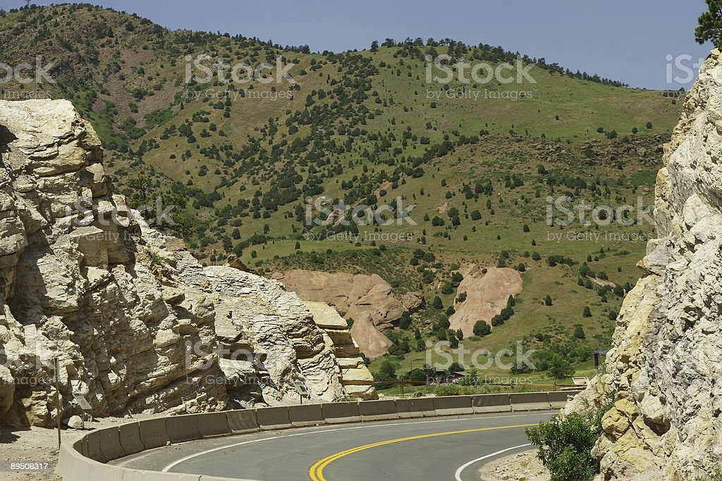 Mountain Road in Colorado royalty-free stock photo