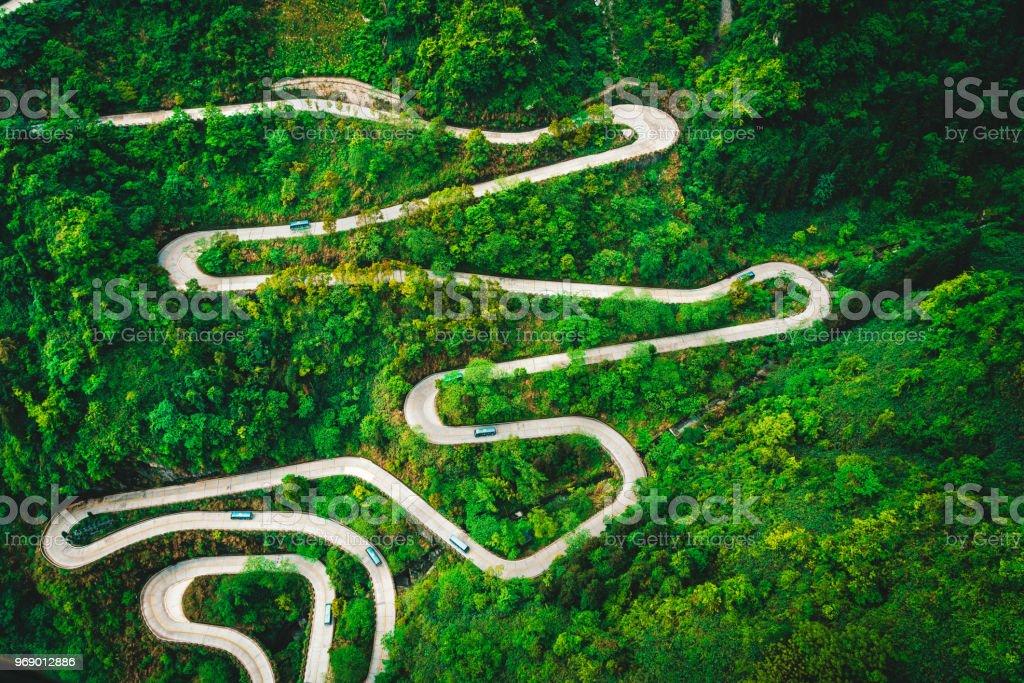 Mountain road in Tianmen Mountain National Park, der Zhangjiajie, China – Foto