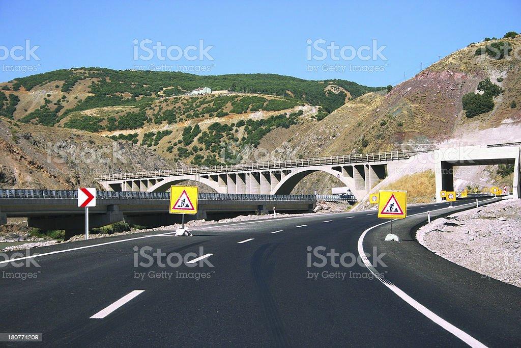 Mountain road in Turkey royalty-free stock photo