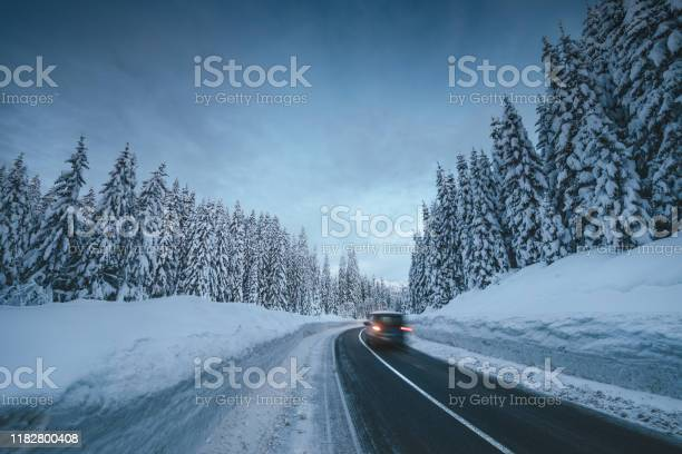 Photo of Mountain Road In Winter