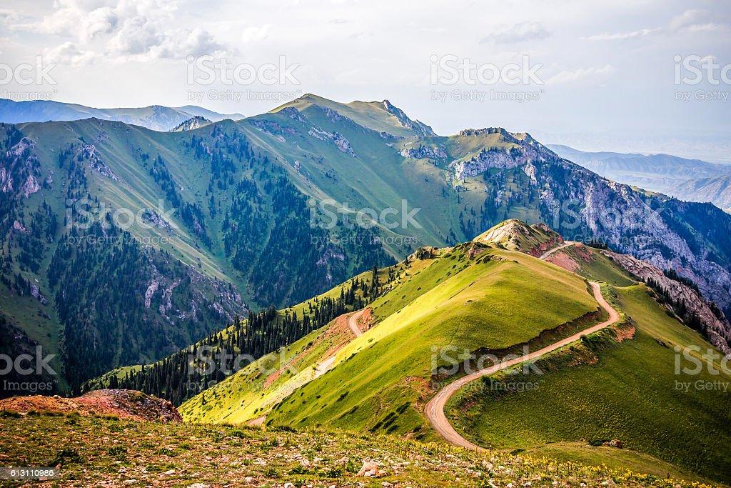 Mountain road Landschaft – Foto