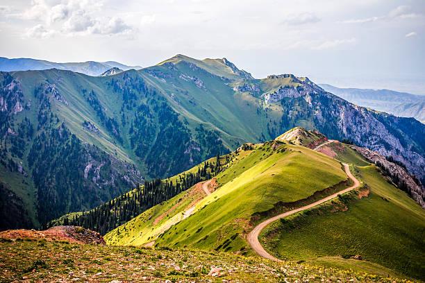 Mountain road landscape stock photo