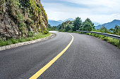 Curved mountain road,