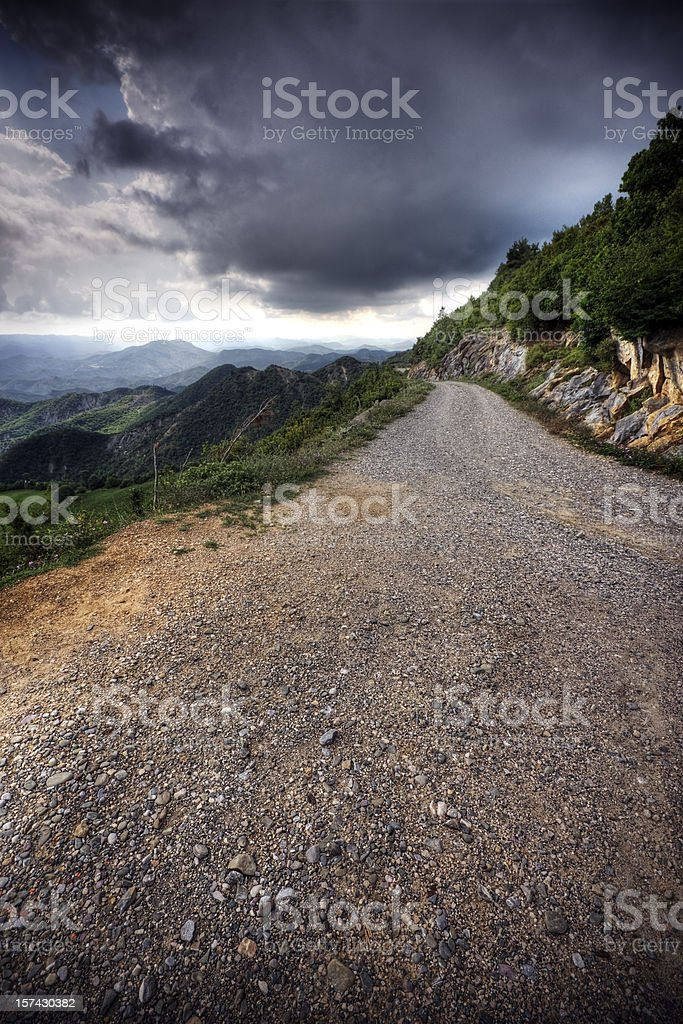Mountain Road royalty-free stock photo