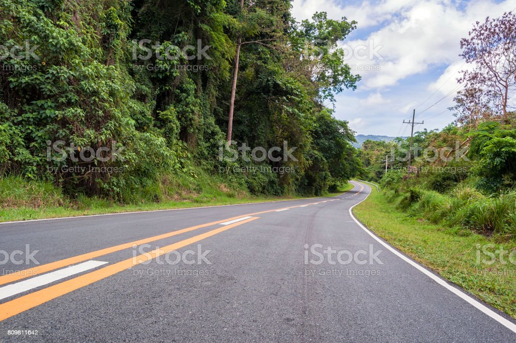 Mountain Road stock photo