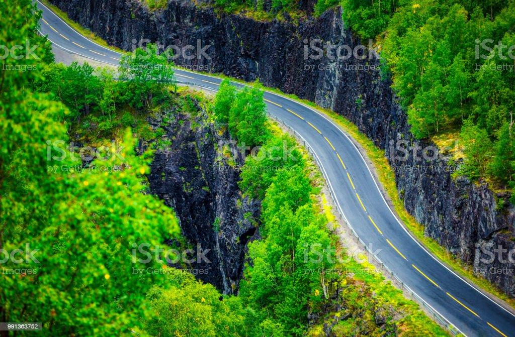 mountain road (HDRi) stock photo