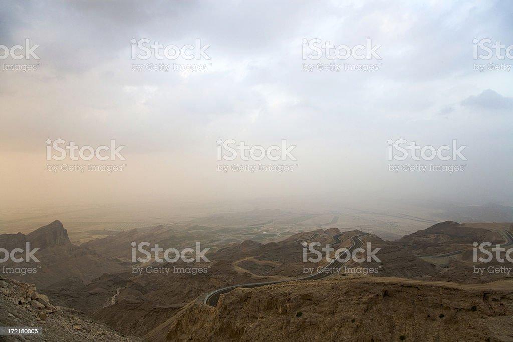 Mountain Road Serpentine United Arab Emirates royalty-free stock photo