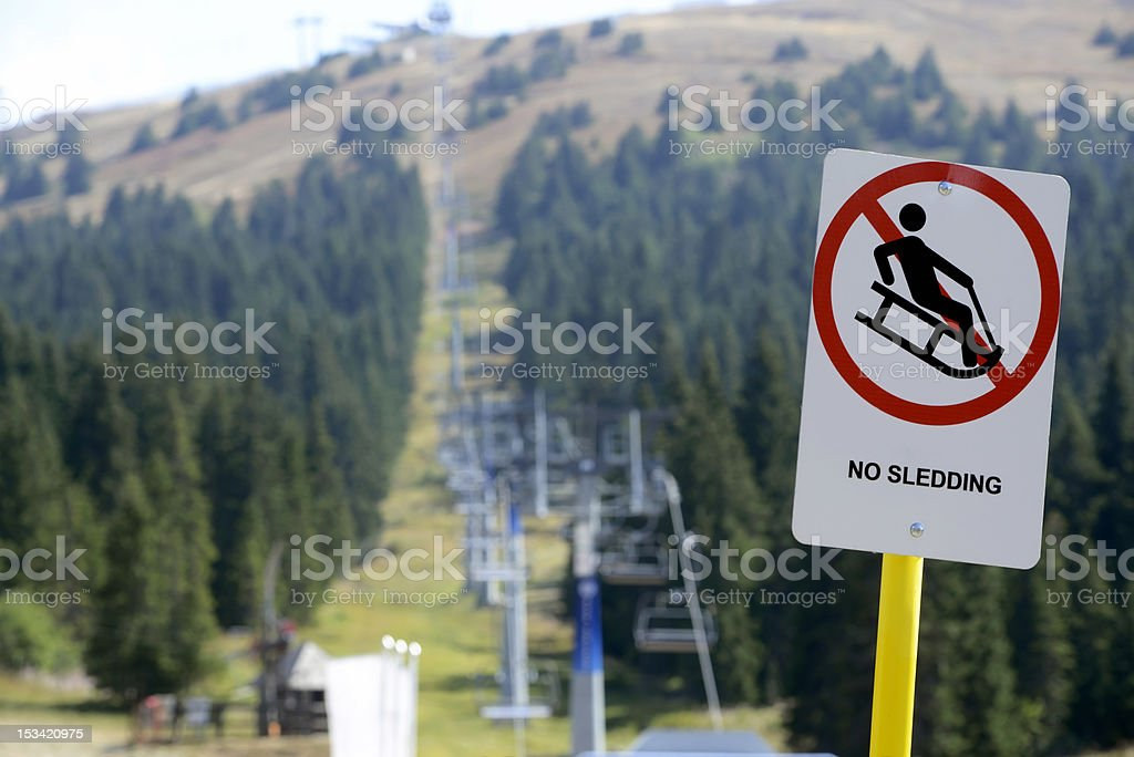 Mountain road sign stock photo