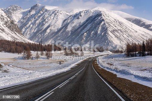 1066508460 istock photo mountain road snow winter trees 516827290