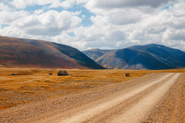 Las sierras de carretera de montaña paisaje. Mountain Hill Road panorama - foto de stock