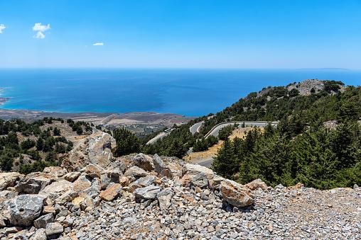 Mountain road to Chora Sfakion on Crete island