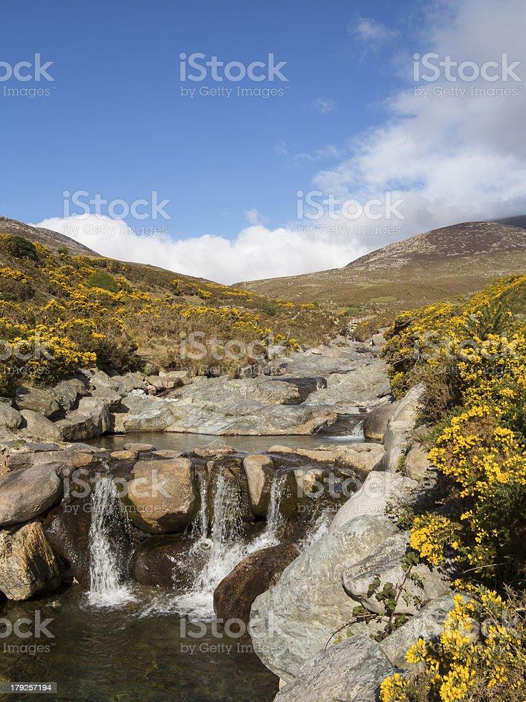 mountain rock pool stock photo