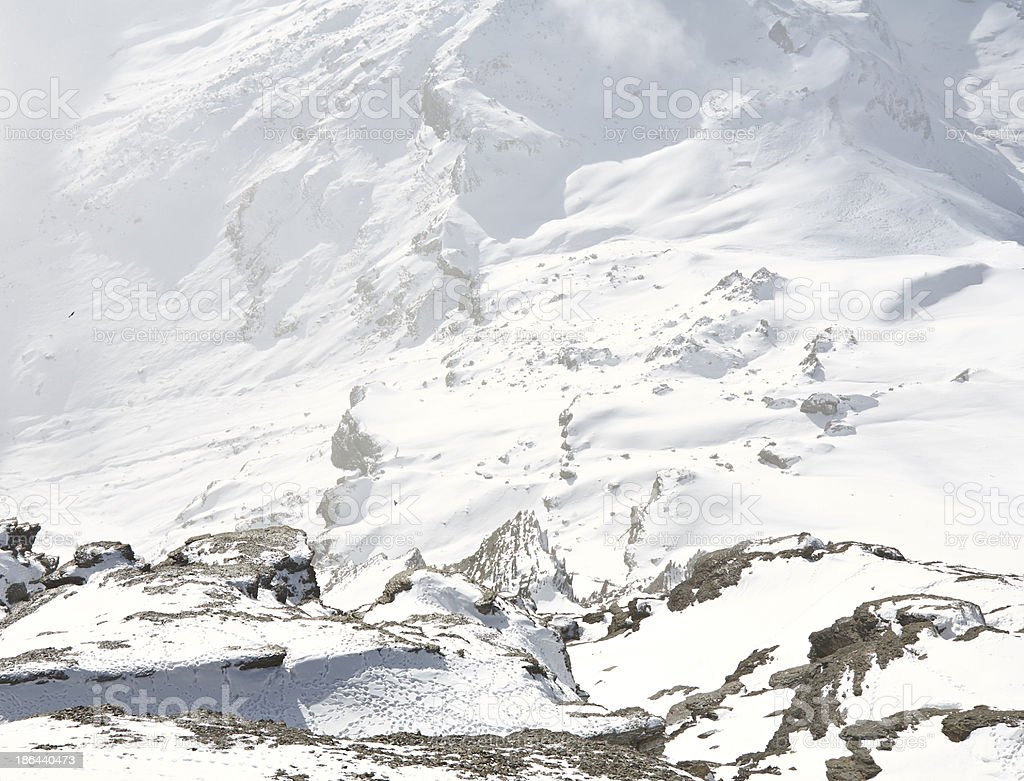 Mountain rocks coverd in snow royalty-free stock photo