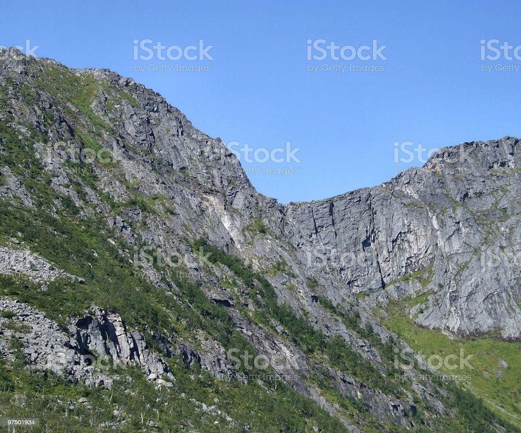 Mountain rocks in Norway royalty-free stock photo