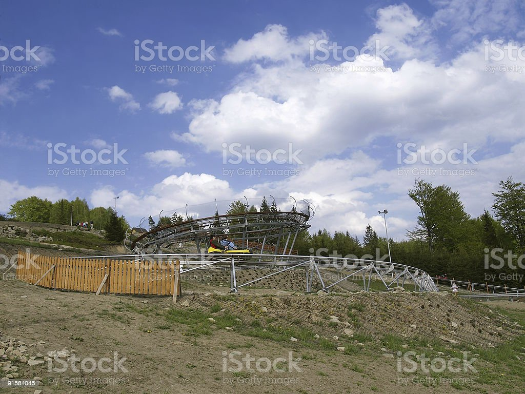 Mountain rollercoaster royalty-free stock photo