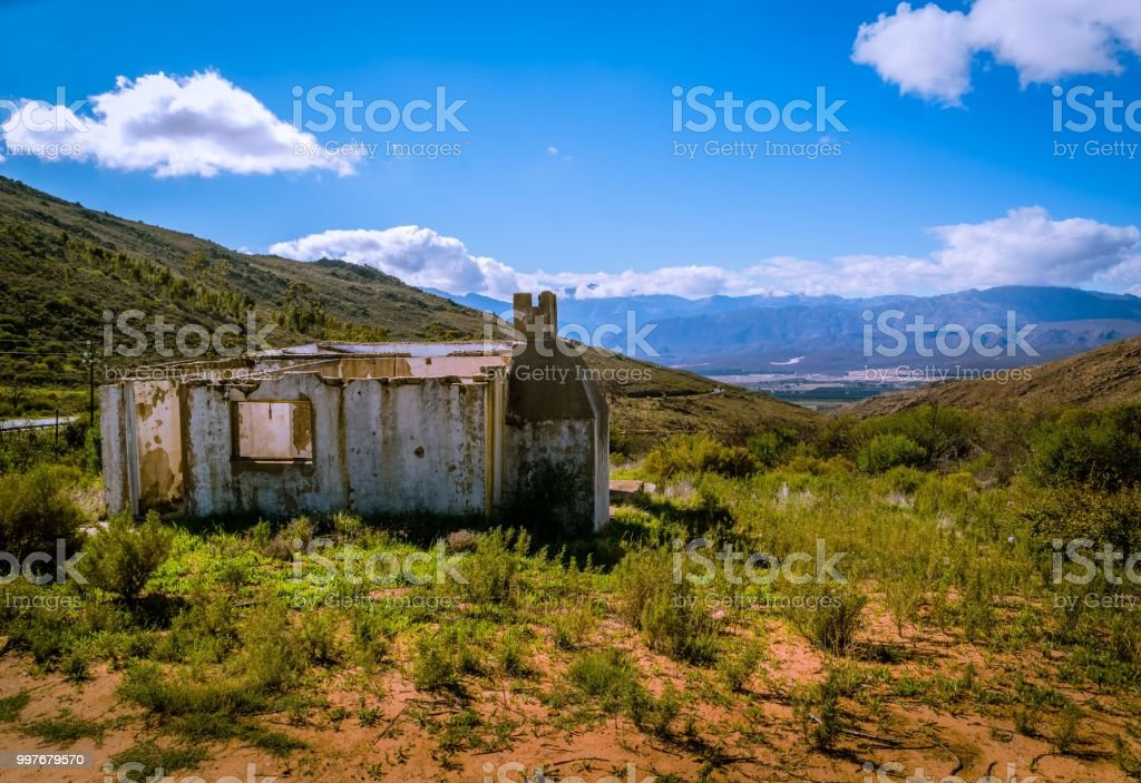 Mountain Ruins stock photo