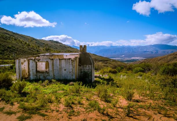 Mountain Ruins stock photo