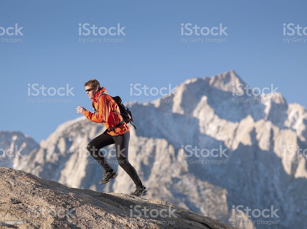 Mountain Runner royalty-free stock photo