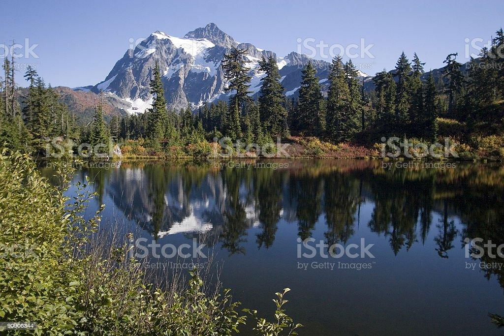 Mountain Scene in Autumn royalty-free stock photo
