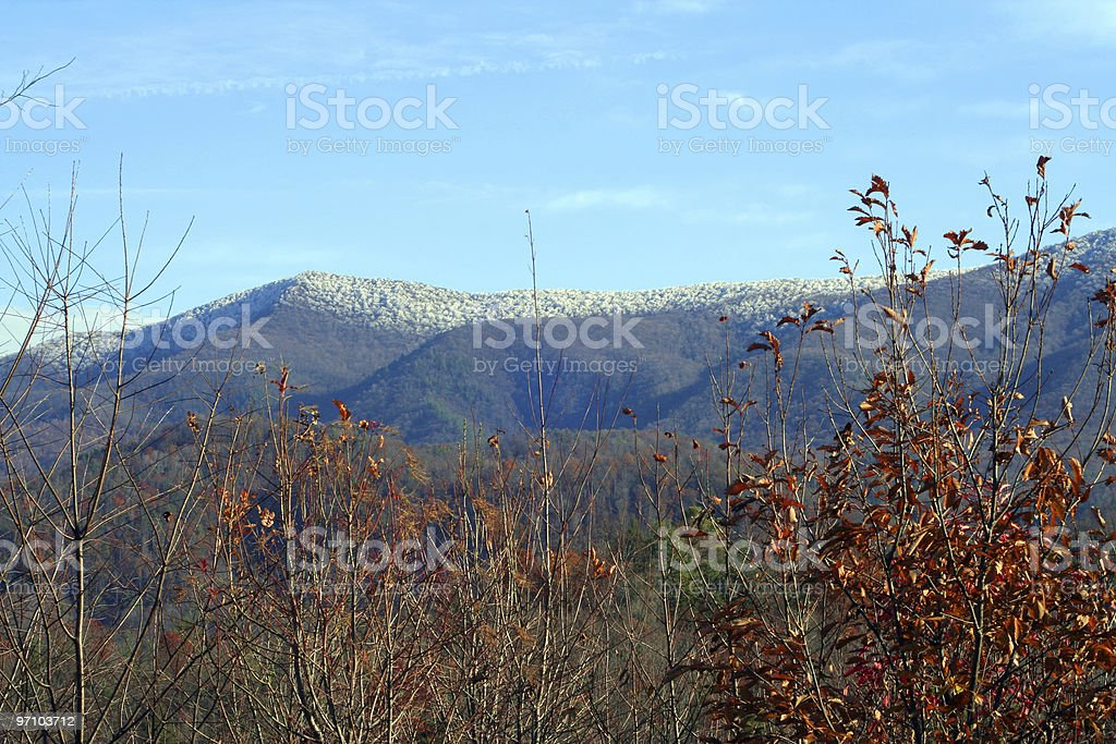 NC Mountain Scene near Asheville in Fall royalty-free stock photo