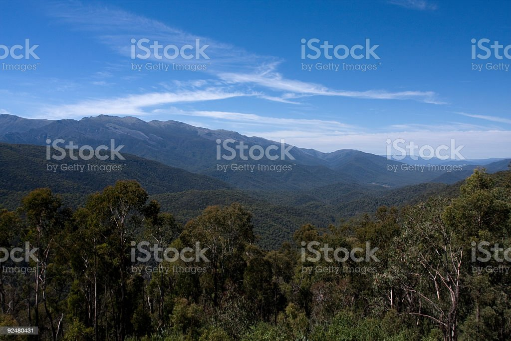 Mountain scene royalty-free stock photo