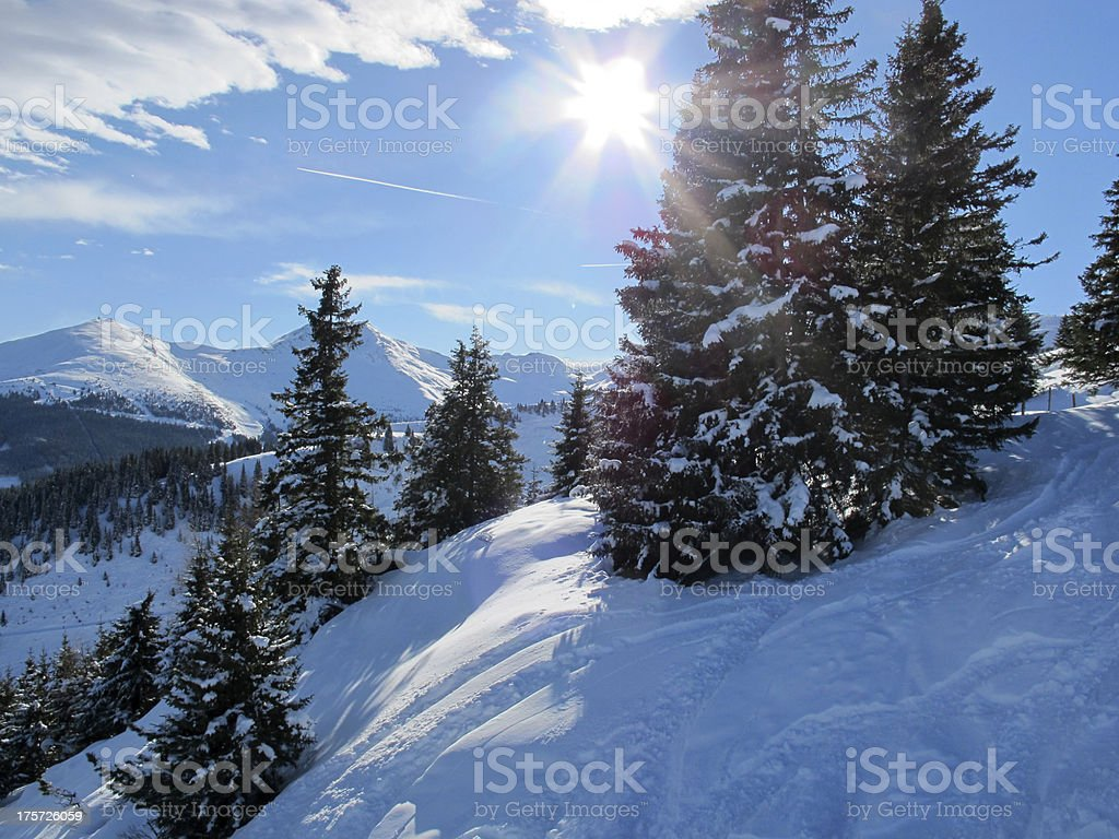 Mountain scenery in the Alps. royalty-free stock photo