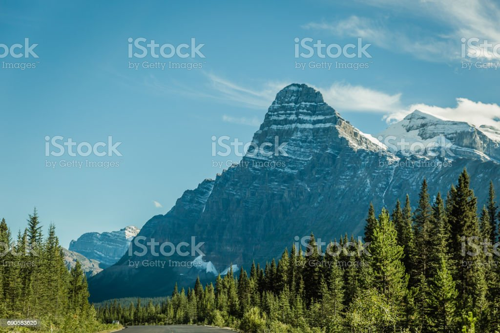 Mountain scenery in the Canadian Rockies stock photo